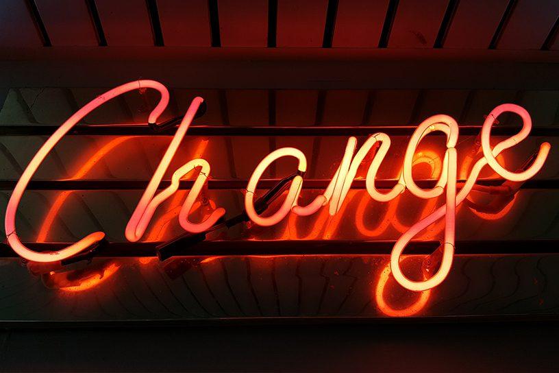 Change Leuchtschrift