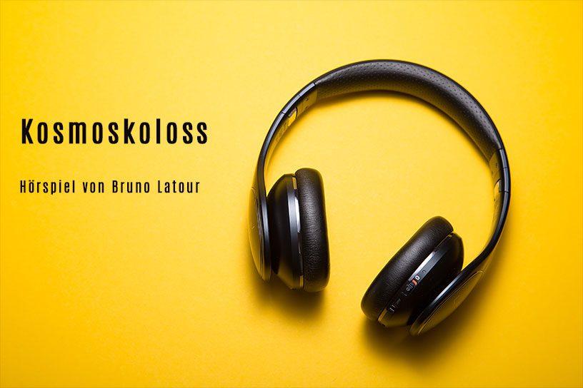Kopfhörer vor gelben Hintergrund